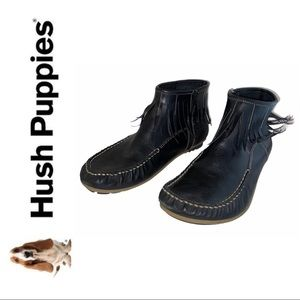 2/$30 🌼 Hush Puppies Fringe Leather Ankle Boots